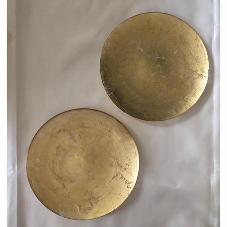 オーブ 22cmプレート〈2枚セット〉 ゴールド/シルバー