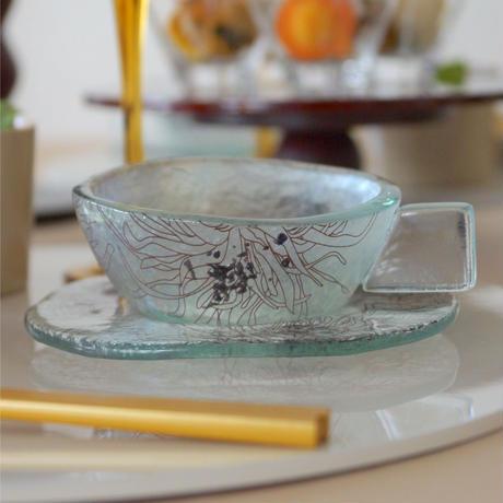 Glass Studio  グラスハンドル カップ&ソーサー