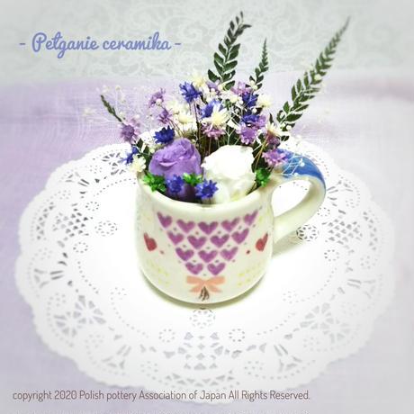 ハートの花束風コーヒーカップ【紫】