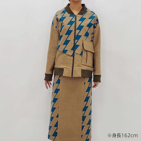 -  P-CHIDORI  - タイトスカート  col:ブラウン
