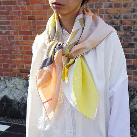 -  Oriki -          キュプラスカーフ  col:オレンジ