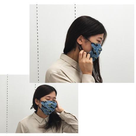 - Hako -  POLSマスク    col:ネイビー