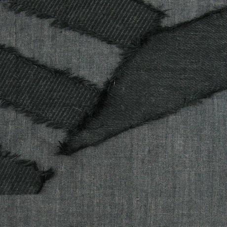 カットジャカードストール SC-0002 BLACK