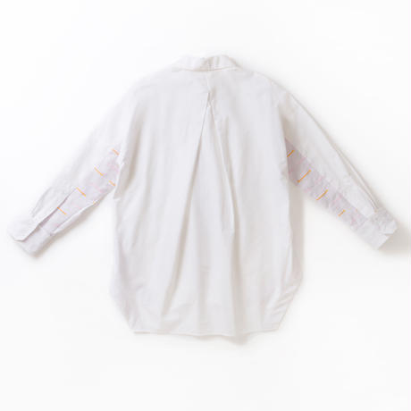 -  SANKAKU-YANE  -       シャツ       col:ホワイト