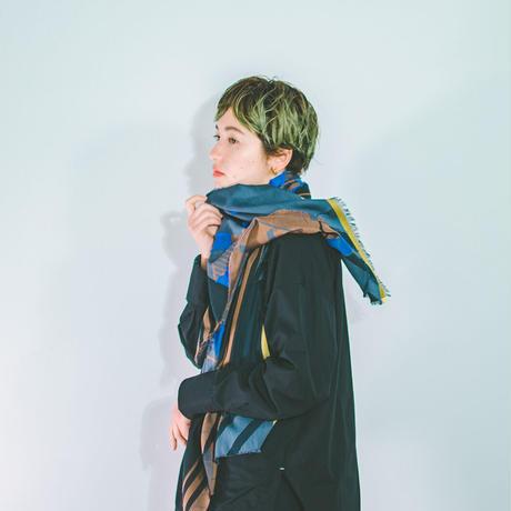 -  HASHIGO - FUSAスカーフ  col:ブルー
