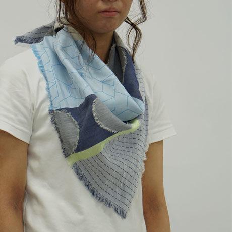 - FUSA - スカーフ   col:ブルー