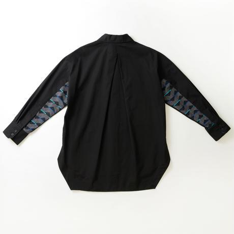 -  SANKAKU-YANE  -       シャツ       col:ブラック