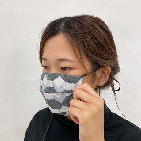 POLSマスク(ケース付き)  col:モノクロ