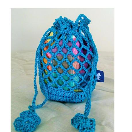 Mesh Kinchaku (Turquoise)
