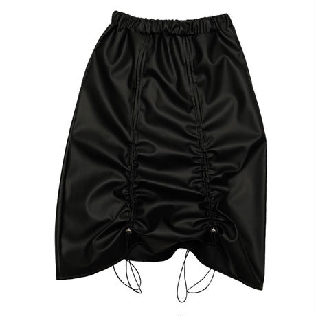 Leather skirt【Black】