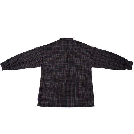 チェック shirt long【brown】