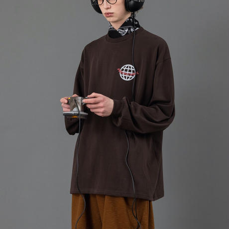 Network graphic longT【Brown】
