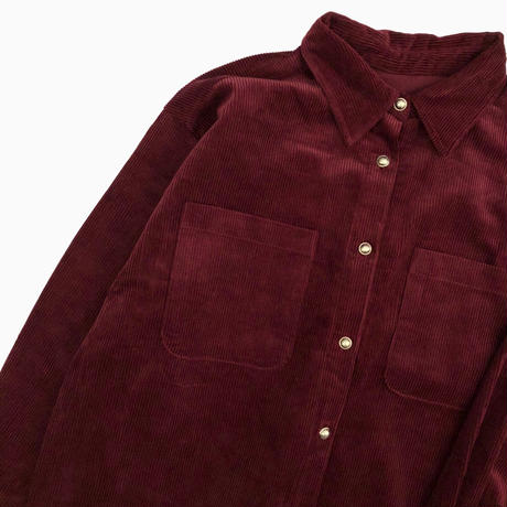 BIG CORDUROY BLOUSON [WINE]