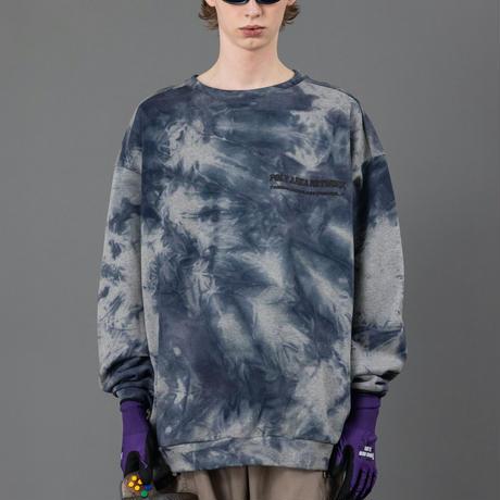 Tie dye big sweat【Gray】