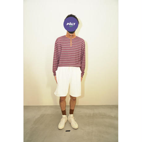 Knit half pants【White】