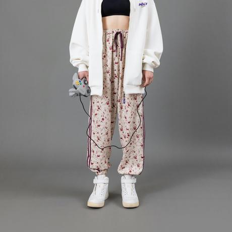 Flower line pants【White】