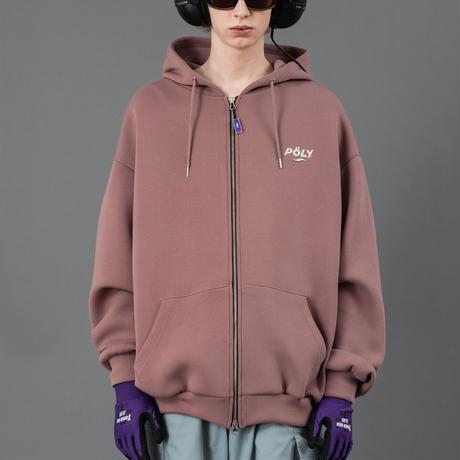 Logo zip hoodie【Pink】