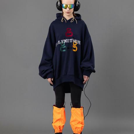 Super big gaming hoodie【Navy】