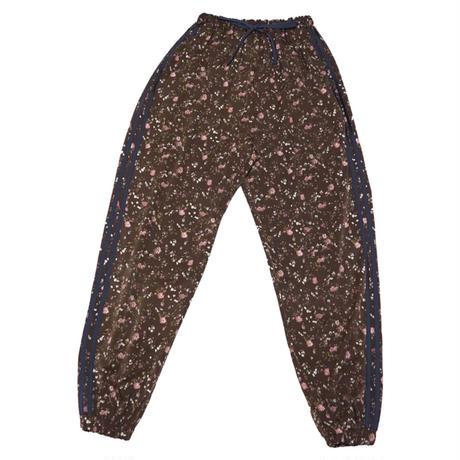 Flower line pants【Brown】