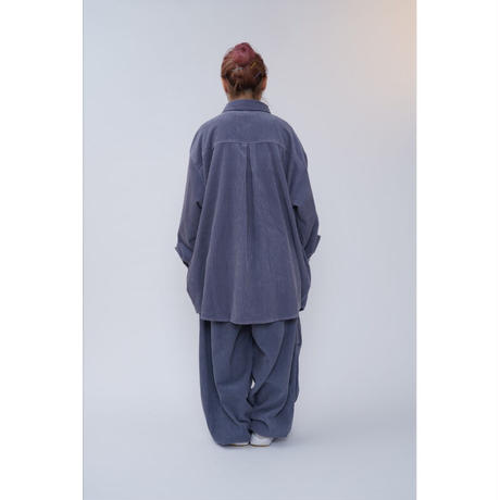 BIG CORDUROY BLOUSON【blue gray】