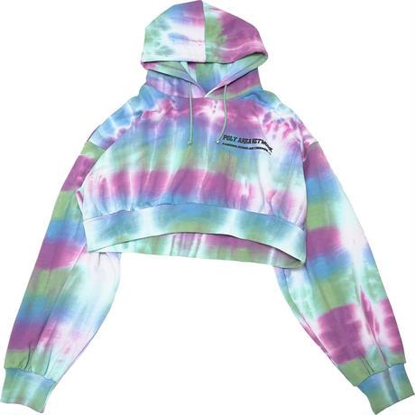 Tie dye short hoodie【Mix】