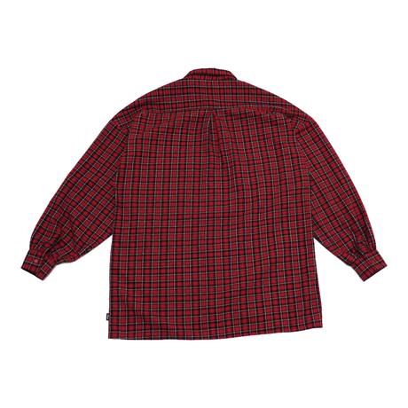 LOOSE CHECKERED SHIRT【red】
