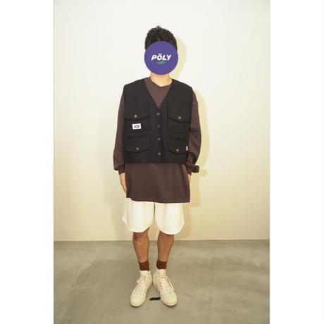 Denim vest【Black】