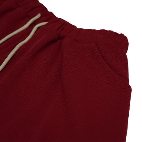 Knit half pants【Red】