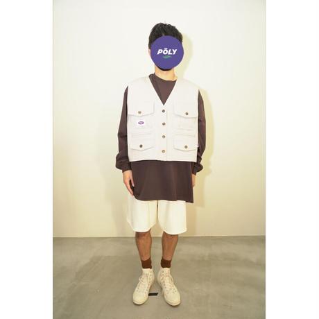 Denim vest【Gray】
