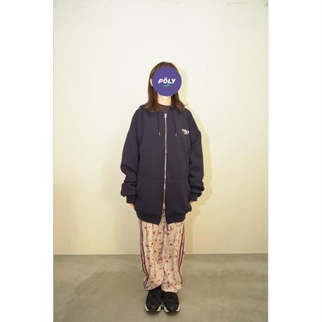 Logo zip hoodie【Navy】