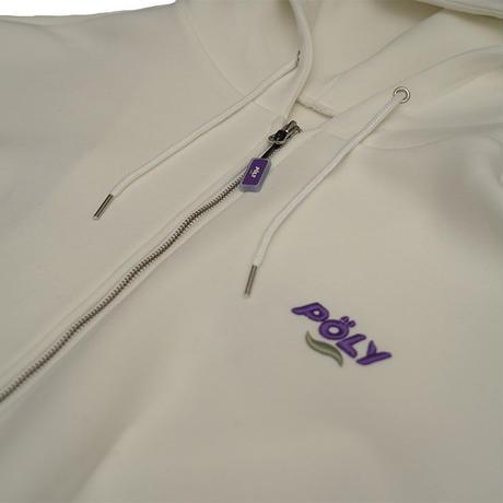 Logo zip hoodie【White】