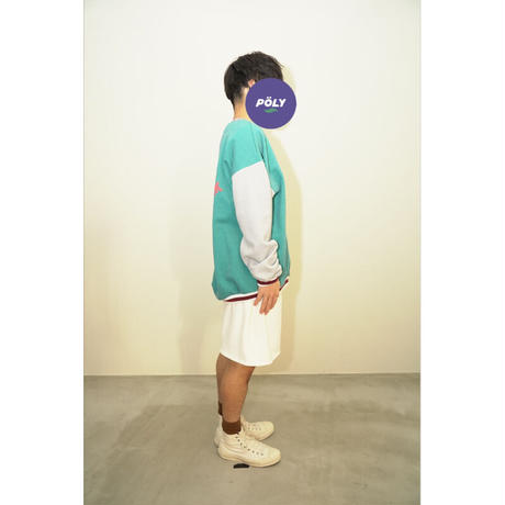 Crossover v neck sweat【Green】