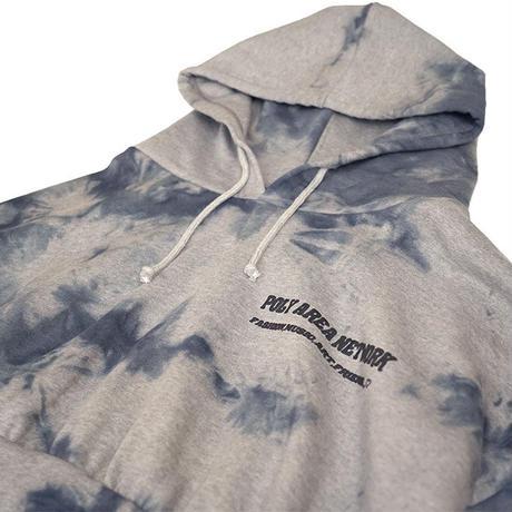 Tie dye short hoodie【Gray】