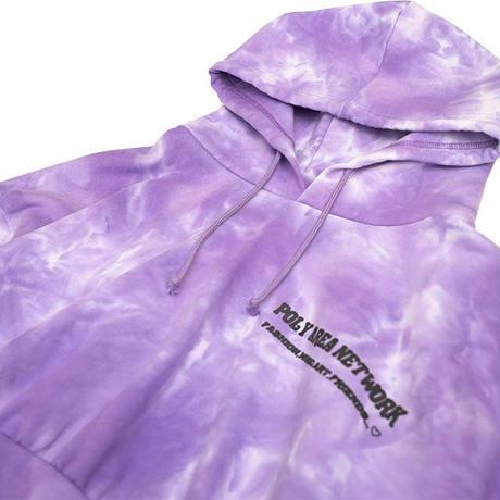 Tie dye short hoodie【Purple】