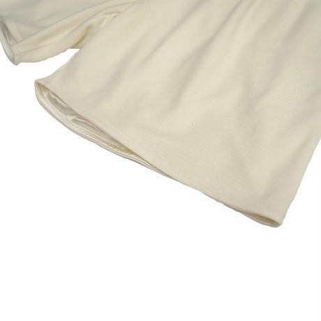 Knit half pants【White】