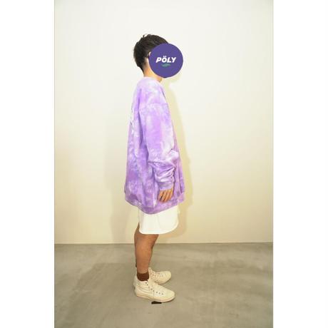 Tie dye big sweat【Purple】
