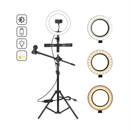 Ring Light kit with mike stand 高機能自撮りライト3脚 マイクスタンド付き