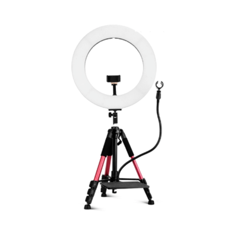 18inch ring light set with mike stand and sound card shelf 18インチリングライトセット マイクスタンド&サウンドプレート付き