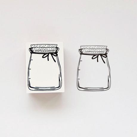 RS36 ラバースタンプ ガラス瓶