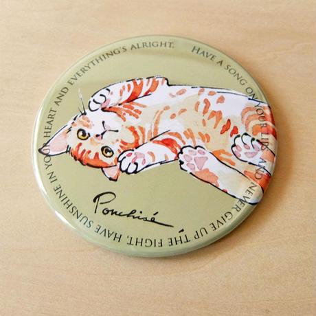 コンパクトミラー トラ猫/シャム猫