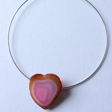 Choker necklace silver/heart