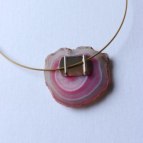 Choker necklace gold/pink