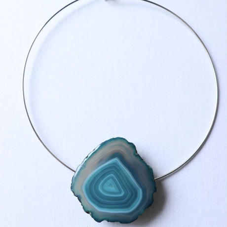 Choker necklace  silver/blue
