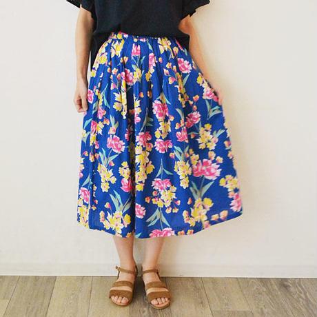 花柄プリントギャザースカート(PH9235)