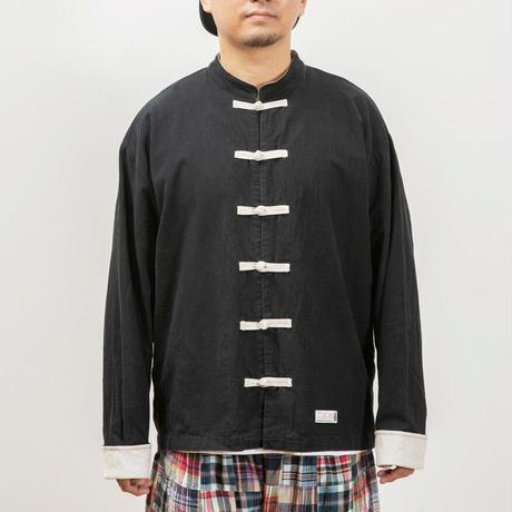 お散歩カンフーシャツ 黒