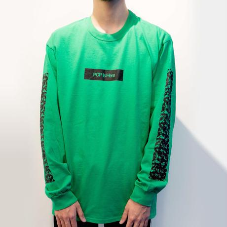 "HACKALL Long Sleeve T-shirts ""NEON GREEN"""