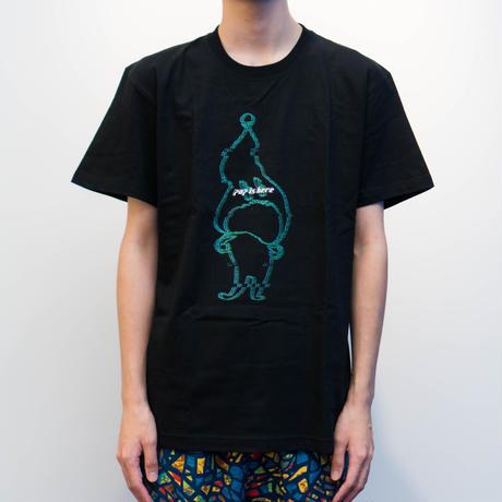 """WARP HACKALL T-shirts """"BLACK"""""""