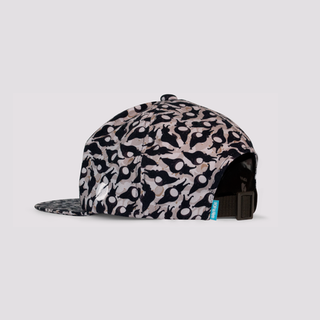 """PATTERNED ALL OVER SNAPBACK CAP""""Settle down"""""""