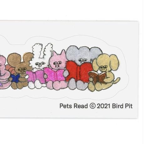 Bird Pit/ Pets Read ステッカー(横並び)
