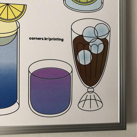 Corners A2ポスター   マルチカラージュース